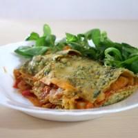Lasagnes à la ricotta pesto et courgettes - Vegan