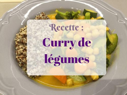 Recette Curry de légumes vegan