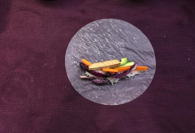 Recette rouleaux de printemps vegan et sauce au beurre de cacahuètes