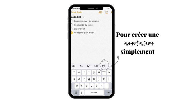 Créer une annotation simplement sur l'application Notes de Apple