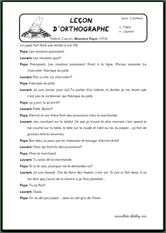 Comment Presenter Une Piece De Theatre A L'ecrit : comment, presenter, piece, theatre, l'ecrit, Petites, Saynètes, Jouer, Cartable, Cancoillotte