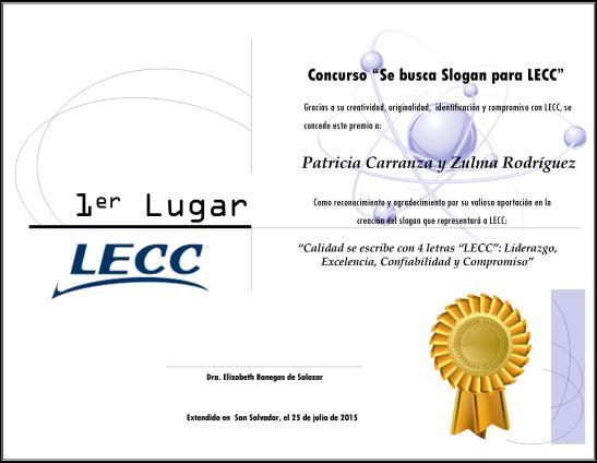 PREMIO SLOGAN LECC