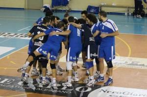 Gli atleti della Pallavolo Azzurra Alessano