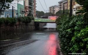 Sottovia circonvallazione Lecce allagato