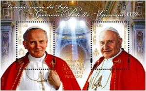 Canonizzazione_papi_francobolli