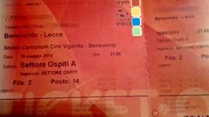 Biglietto Benevento-Lecce