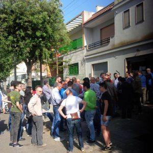 tifosi in fila per acquisto biglietti Lecce-Bassano play-off (foto Salento GialloRosso)