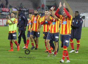 Saluti finali Lecce-Cosenza