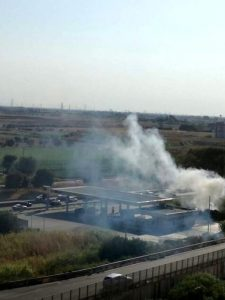Gli scontri tra brindisini e leccesi (foto fonte brindisireport.it)