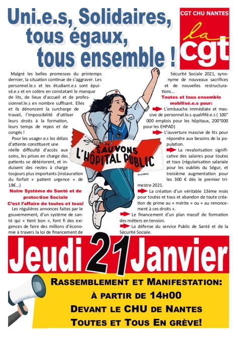 Nantes: manifestation le 21 janvier