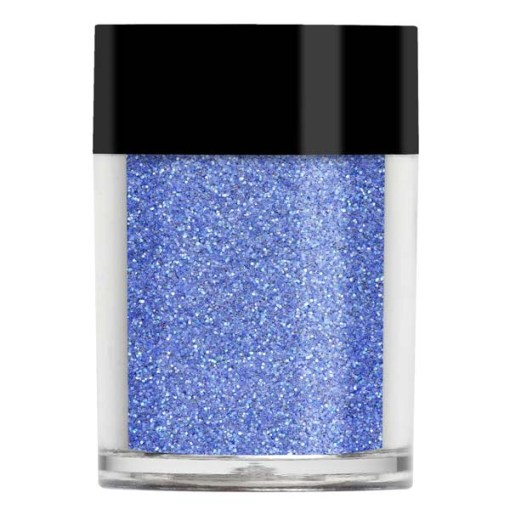 Nail art glitter in a blue toned purple with bright purple undertones.