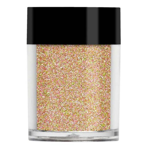 Nail art glitter in an iridescent pale pink colour with pale blue undertones.