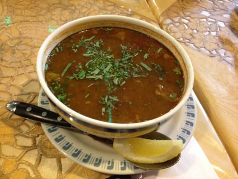 抜群に美味しいモロッコのスープ、ハリラ。