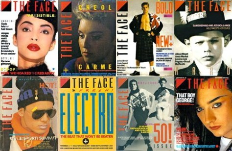80'SのUK サブカル雑誌THE FACE COVER