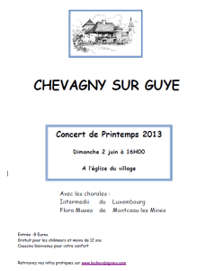 Concert de printemps 2013
