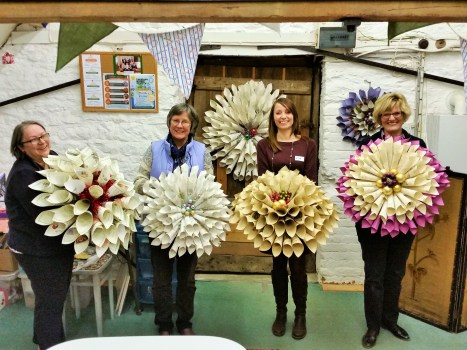 Vintage Christmas Wreaths at Lechlade Craft Barn