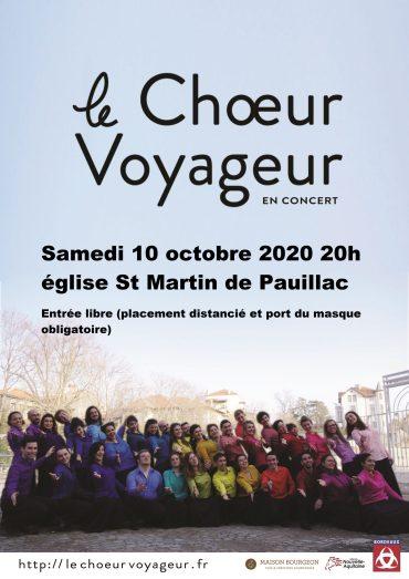 Samedi 10 octobre 2020 – 20h St Martin de Pauillac