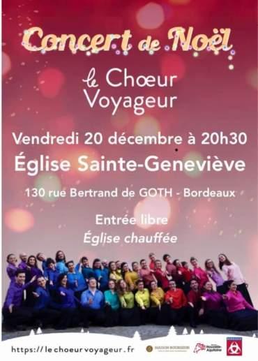 Concert de Noël 🎄 Église Sainte Geneviève de Bordeaux – 20h30 – Entrée libre