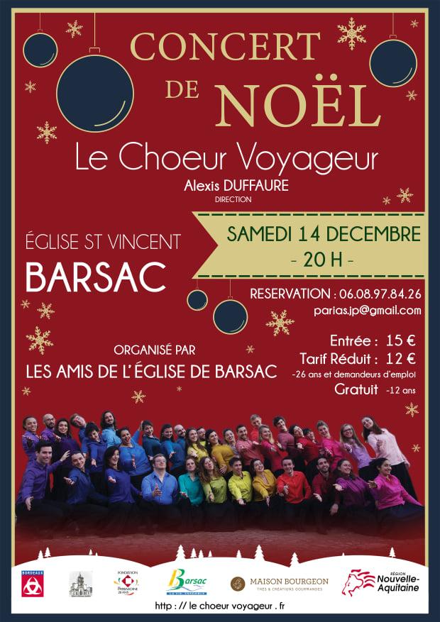Concert de Noël 🎄 Église de Barsac