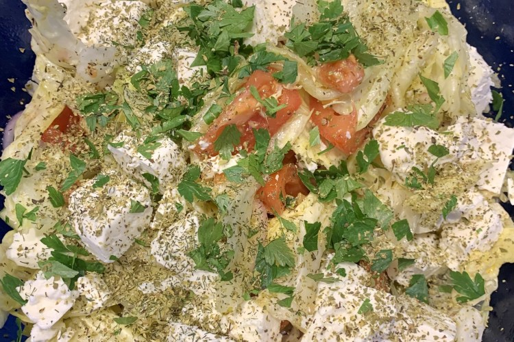 Bunter Salat mit Feta