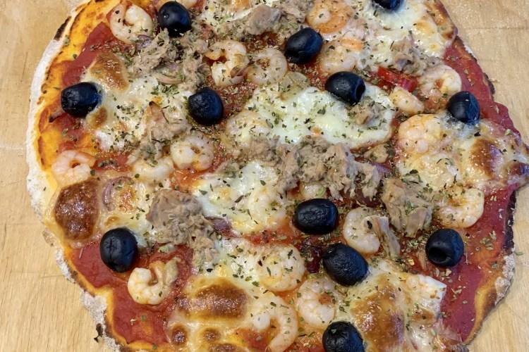 Pizza tonno e gamberetti