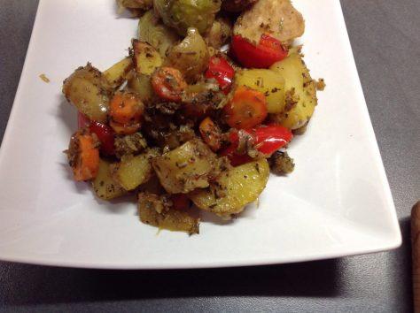 Provenzialische Ofenkartoffeln mit Safranhonig