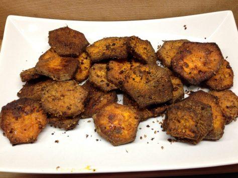 Gemüsechips aus Süßkartoffeln