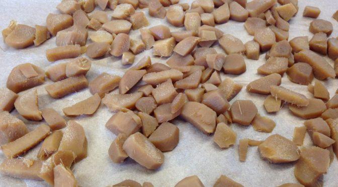 Getrockneter kandierter Ingwer