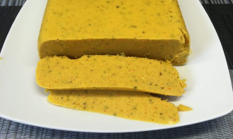 Veganer Käse aus Kartoffeln und Karotten