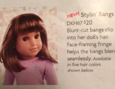 american girl doll bangs