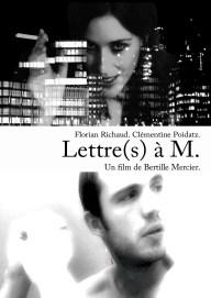 """Affiche de """"Lettre(s) à M"""" - court métrage de Bertille Delporte-Fontaine"""
