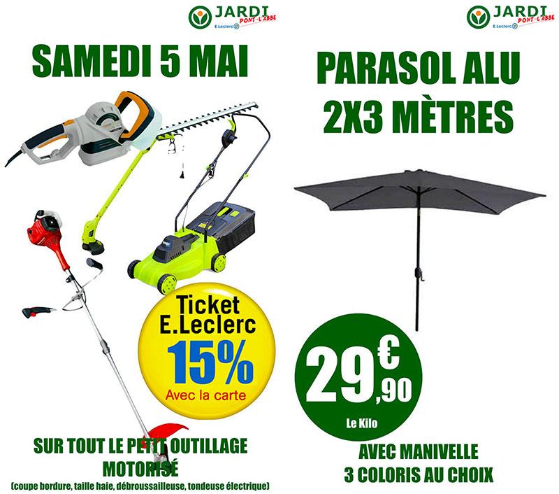 parasol jardi leclerc