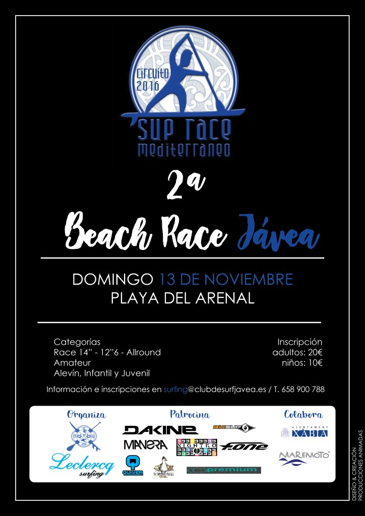 CARTEL 2ª BEACH RACE JÁVEA