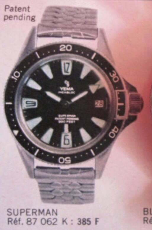 Bracelet montre Yema - Superman 63