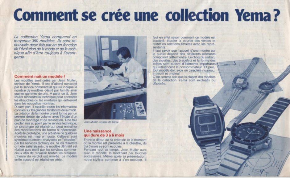 Informations YEMA. Comment se crée une collection ? Crédit photo Jean Müller