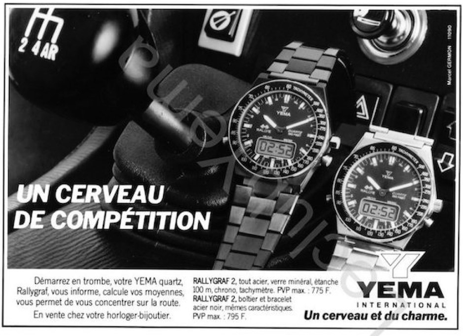 Yema Rallygraf 2. Publicité Presse Agence Marcel Germont