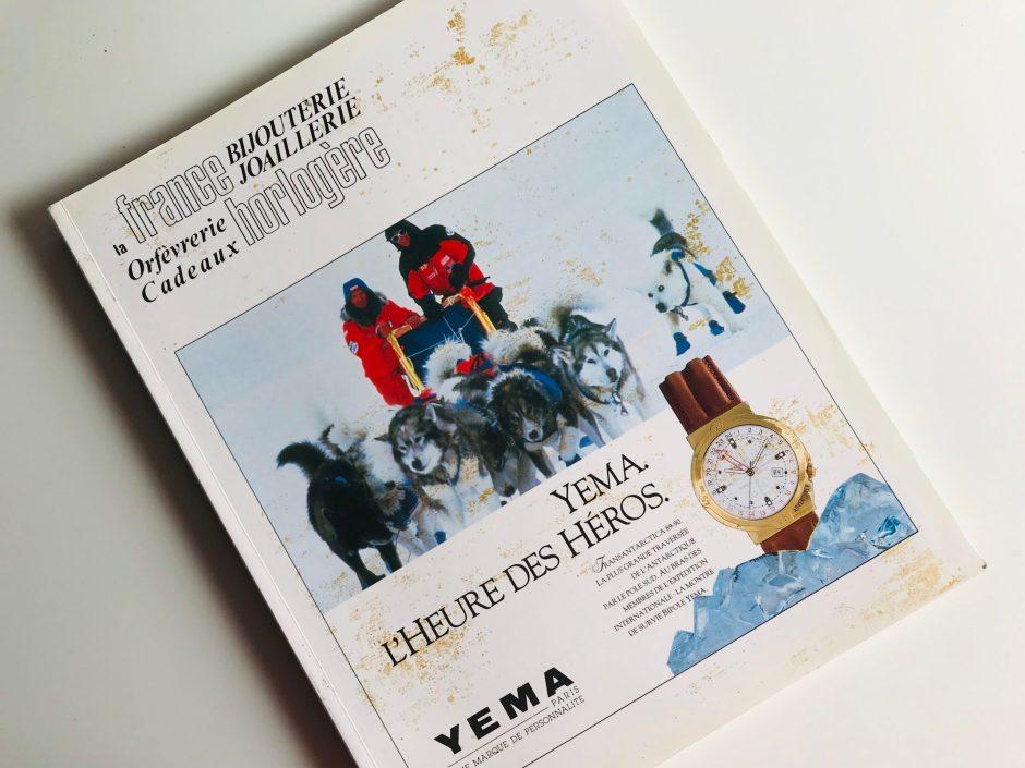 YEMA_Publicité Couvertrue La France Horlogère_N516 _Octobre 1990