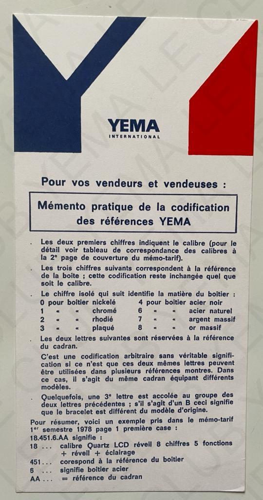Yema reference et chiffres