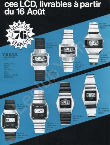 Cat_Collection YEMA 1976 | Collection Quartz LCD. S2 1976