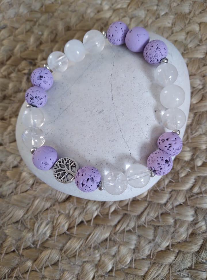 Bracelet diffuseur cristal de roche