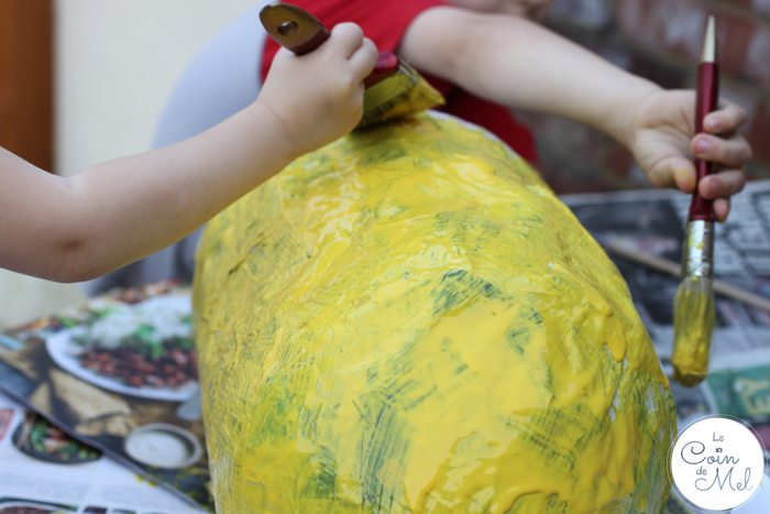 How to Make a Minion Piñata (Despicable Me) - Painting