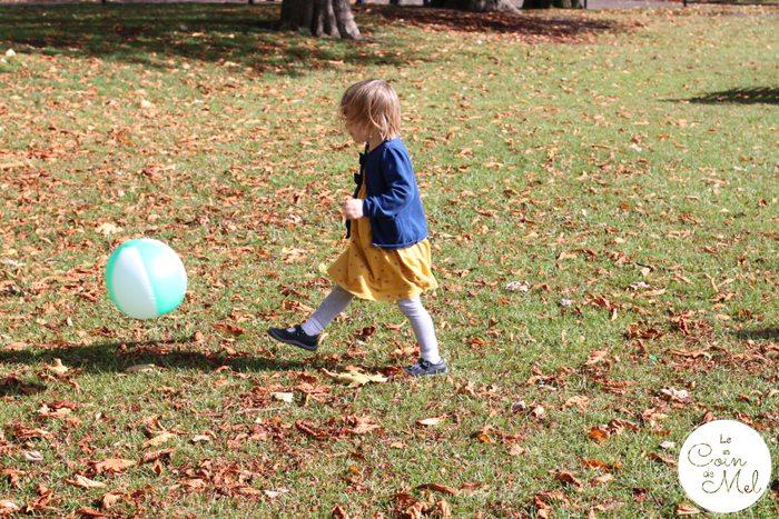 Autumn Picnic - Kicking a Ball