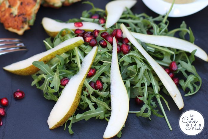 Crunchy Pear and Pomegranate Salad