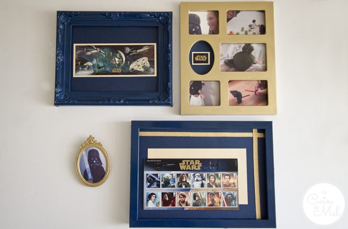 The Perfect DIY Present for a Star Wars Fan - Set of Frames Using Royal Mail Stamps