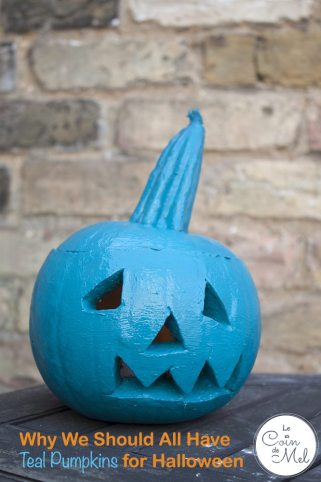 Why we will have a teal pumpkin outside our front door for Halloween