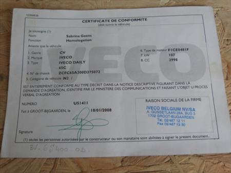 CAMION PORTE CONTAINER IVECO DAILY 2008 - 76.640 KM: IVECO DAILY à ...