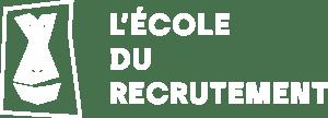 Logo école du recrutement blanc