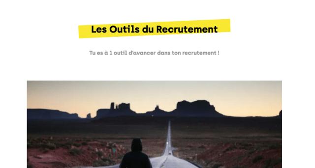 les outils du recrutement