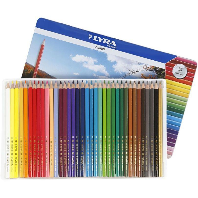 crayons de couleurs triangulaires