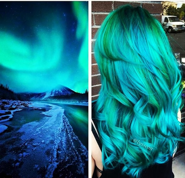 galaxy hair green - Subtil Green Coloration